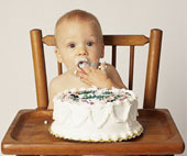 Baby and Cake